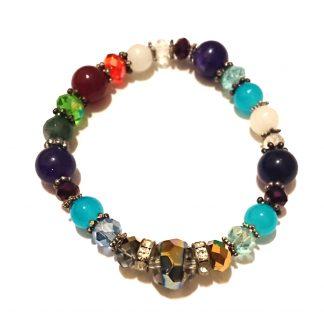 دستبند ترکیبی رنگین